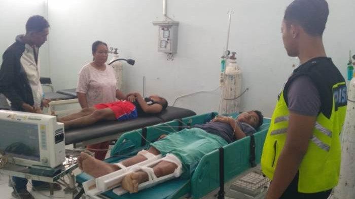 Kecelakaan Maut Mobil Vs Motor di Desa Nangka, Dua Korban Dirawat di RSUD Bangka Tengah