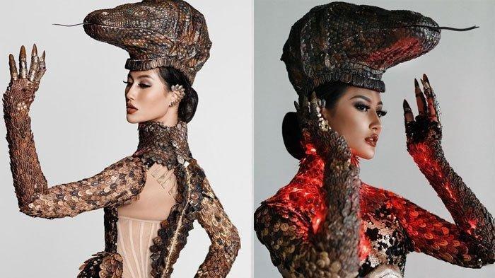 Kostum Komodo Ayu Maulida di Miss Universe 2021