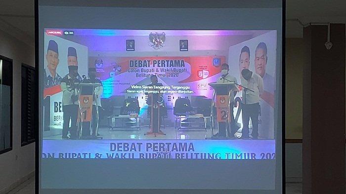 Warganet Kecewa Live Streaming Debat Pilkada Belitung Timur 2020 Terganggu, Ini Penjelasan KPU