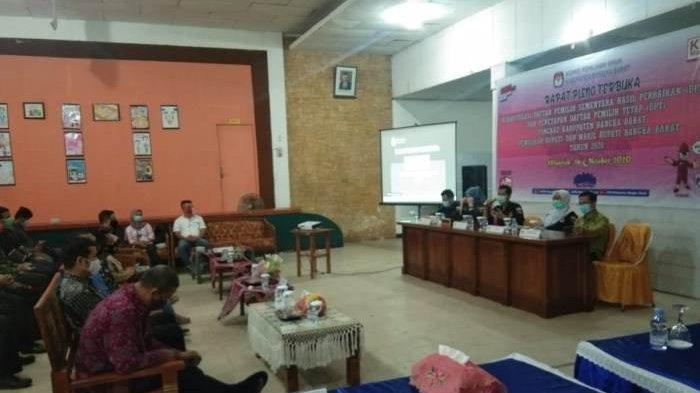 KPU Gelar Rapat Pleno Terbuka Rekapitulasi DPSHP ,  Ini Jumlah Fix DPT Pilkada Bangka Barat