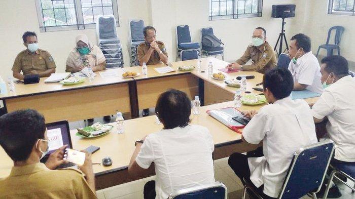 KUNJUNGAN--Bupati Bangka Tengah, Algafry Rahman melakukan kunjungan dan koordinasi di Kantor Bidang Cipta Karya dan Sumber Daya Air Perwakilan Kementerian PUPR, Selasa (23/3/2021)
