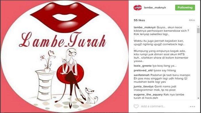 Akun Gosip Lambe Turah Tiba-tiba Raib di Instagram