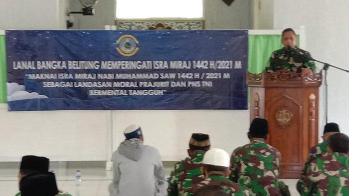 Lanal Bangka Belitung Peringati Hari Isra Mi'raj 1442 H/ 2021 M