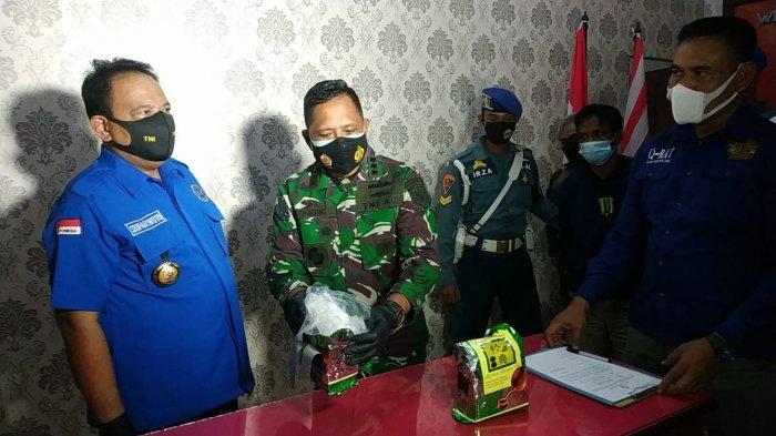 Tim F1QR Lanal Bangka Belitung Sergap Penumpang Bawa 2 Kg Sabu