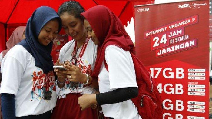Penggunaan Media Sosial di Jaringan Telkomsel Naik 24 Persen