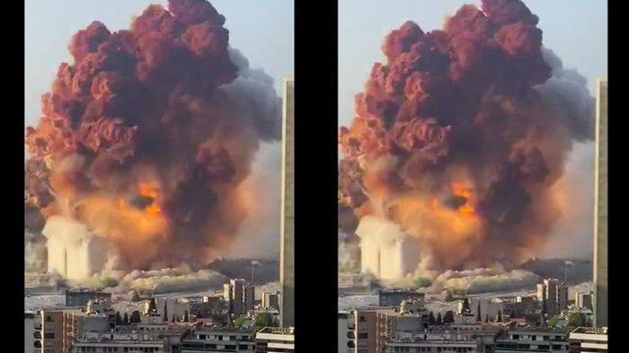 Beirut Luluh Lantak dalam Sekejap, Ledakan Diduga dari 2.750 Ton Amonium Nitrat Setara Gempa 3,3 SR