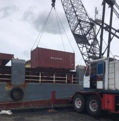 Ekspor lidi nipah ke Pakistan sebanyak 10,7 ton melalui Pelabuhan Pangkalbalam sekira pukul 09.00 WIB, Selasa (24/11/2020).