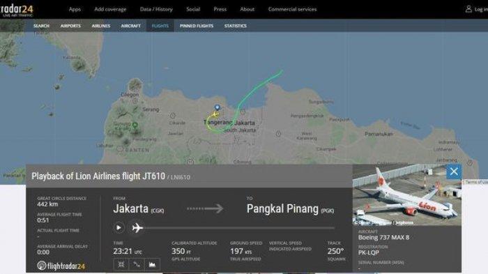 Beredar Video Percakapan Pilot dan Kopilot Lion Air JT 610, Teriakan Allahuakbar Sebelum Nyebur
