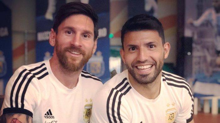 Lionel Messi Ingin Sergio Aguero Gantikan Posisi Luis Suarez