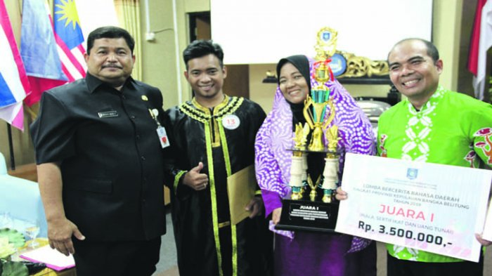 Lomba Bercerita Bahasa Daerah Sarana Pengenalan Cerita Rakyat Bangka Belitung