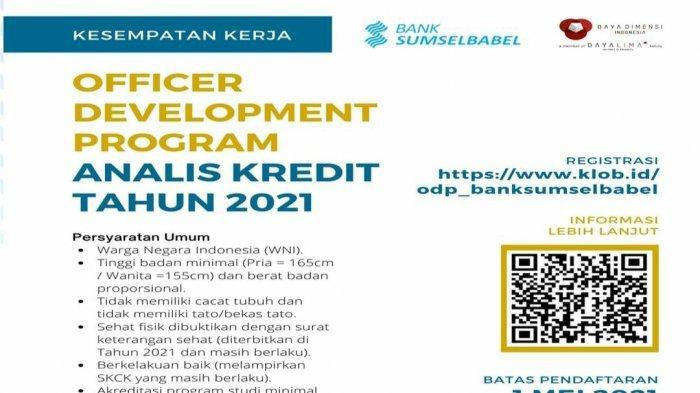 Lowongan Kerja Terbaru, Bank SumselBabel Buka Lowongan Kerja Ini Syaratnya