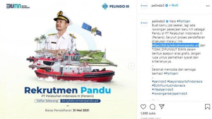 Lowongan Kerja Terbaru BUMN, PT Pelindo III Cari Petugas Pandu, Deadline 31 Mei, Ini Syaratnya