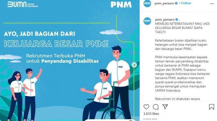 Lowongan Kerja Permodalan Nasional Madani (PMN) Bagi Penyandang Disabilitas