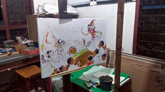 Pak Raden Belum Sempat Selesaikan Lukisan Terakhir