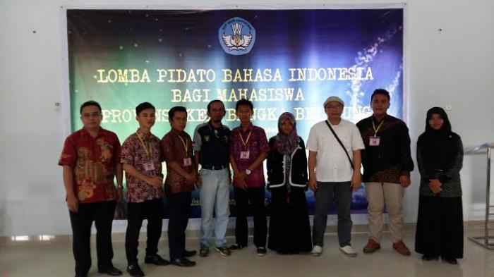 Lusi Juara Pidato Bahasa Indonesia Mahasiswa Se Babel