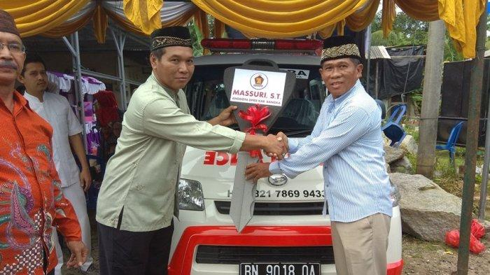 Massuri Tofa Wujudkan Nazar Beli Ambulance untuk Masyarakat Belinyu dan Riau Silip