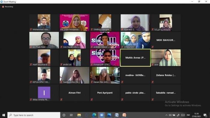 Mahasiswa Prodi PBA IAIN SAS Babel adakan Seminar Nasional Online SIMBA ke VIII Wilayah Sumatera