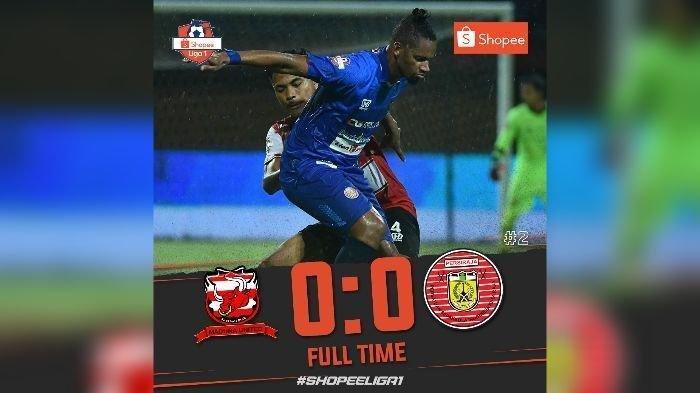 Madura United Imbang Lawan Persiraja, Persib Bandung Tetap Puncaki Klasemen Liga 1