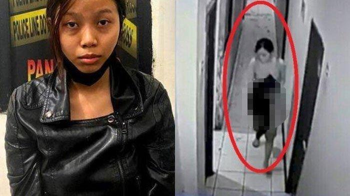 Selebgram Tewas Ditikam Teman Kencan, Terekam CCTV Lari Tanpa Busana dan Pegangi Lukanya
