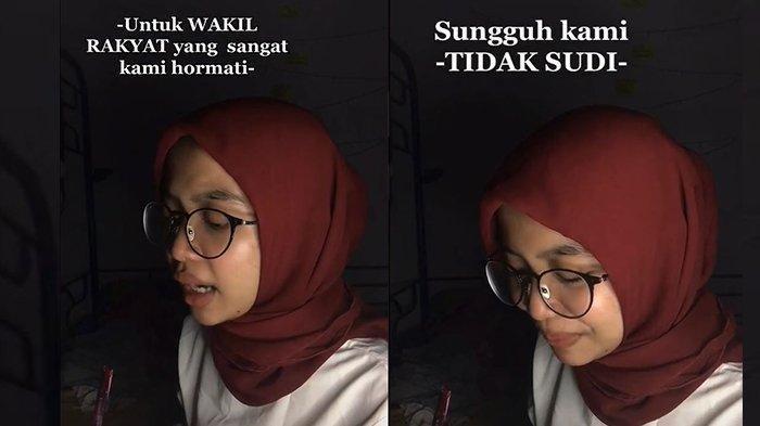 'TIDAK SUDI' Mahasiswi Ini Luapkan Rasa Kecewa kepada DPR Lewat Puisi, Videonya Ditonton 6 Juta Kali