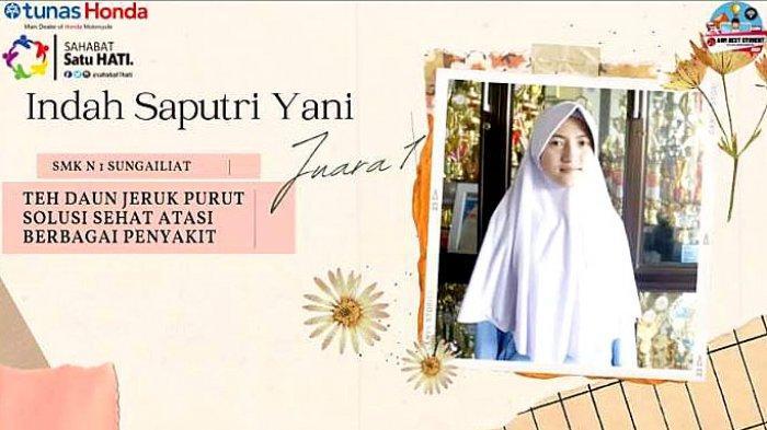 Indah Saputri Yani Juara AHM Best Students 2021 Regional Babel