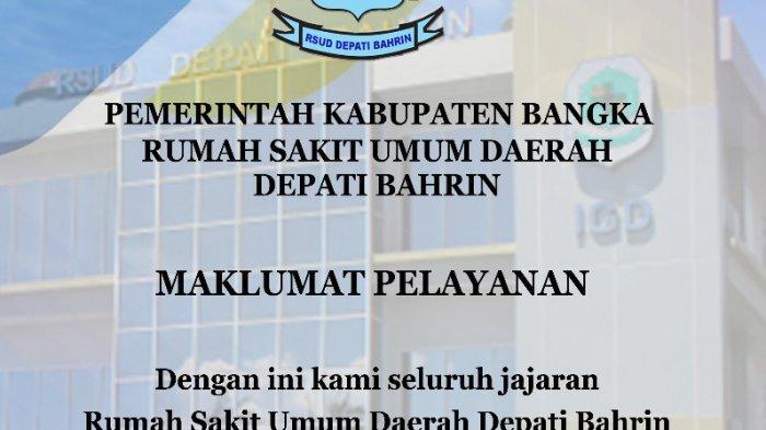 Maklumat Pelayanan RSUD Depati Bahrin
