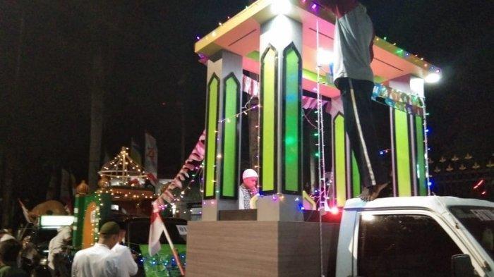 Suasana malam takbiran Idul Adha di ATM Pangkalpinang, Sabtu (10/8/2019).