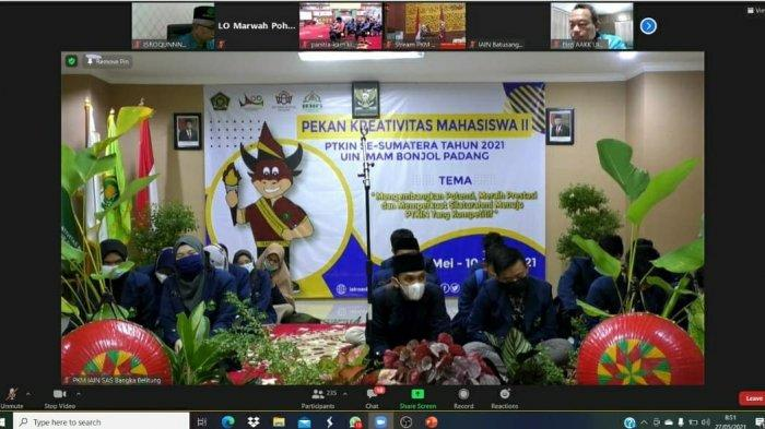 Ikuti Pembukaan PKM II Se-Sumatera, Janawi Harapkan IAIN SAS Babel Bawa Pulang Gelar Juara Umum