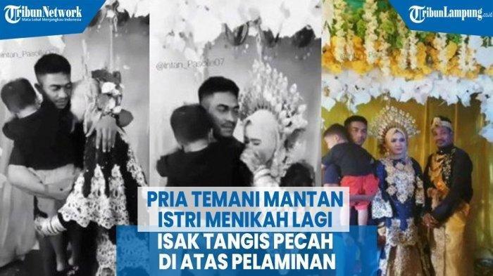 VIRAL, Isak Tangis Pengantin di Pelaminan, Mantan Suami Gendong Anak Hadir ke Pesta Pernikahannya