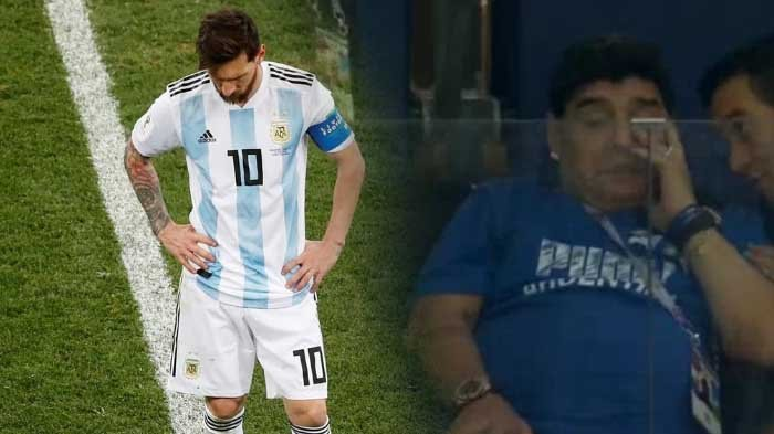 Maradona Sampai Menangis Saksikan Argentina Dibantai Kroasia 0-3
