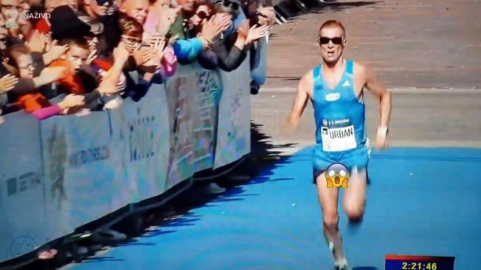 Heboh Video Pelari Maraton Percaya Diri Disoraki, Padahal Alat Vitalnya Nyembul Keluar