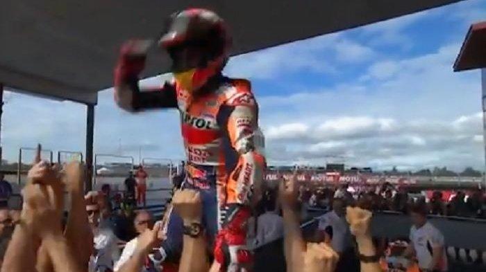 Marc Marquez Komentar Begini Usai Pecundangi Valentino Rossi dan Andrea Dovizioso