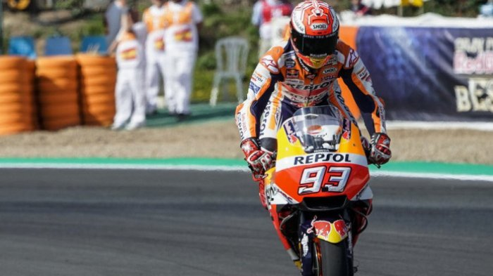 Halangi Andrea Iannone, Marc Marquez Kena Hukuman Start dari Posisi 7 MotoGP Malaysia
