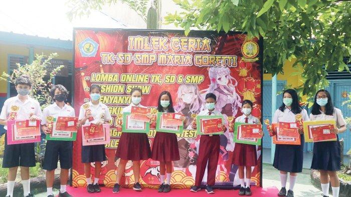 TK-SD-SMP Maria Goretti Sungailiat Gelar Online Competition