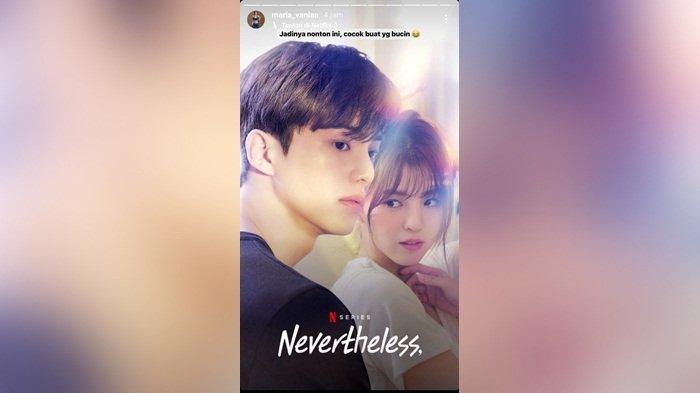 Maria Vania nonton drama korea Neverthless