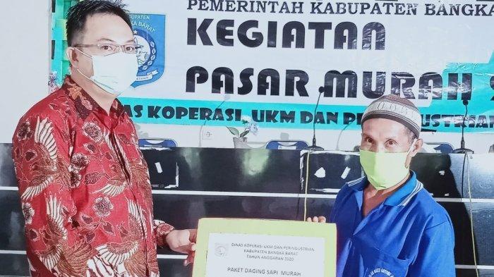 Pemda Babar Subsidi Bahan Pangan Bantu Warga, Harga Daging Sapi Cuma Rp 30 Ribu