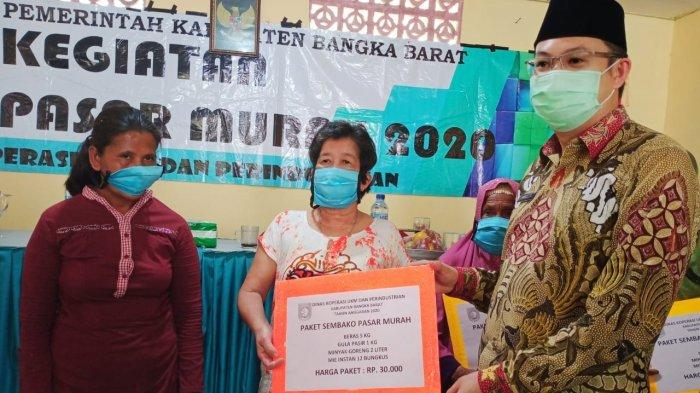 Pemkab Bangka Barat Gelar Pasar Murah Bantu Warga di Tengah Pandemi Corona
