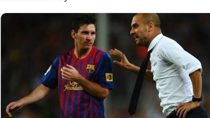 Datang ke Barcelona, Pep Guardiola Bicara dengan Lionel Messi soal Transfer ke Manchester City