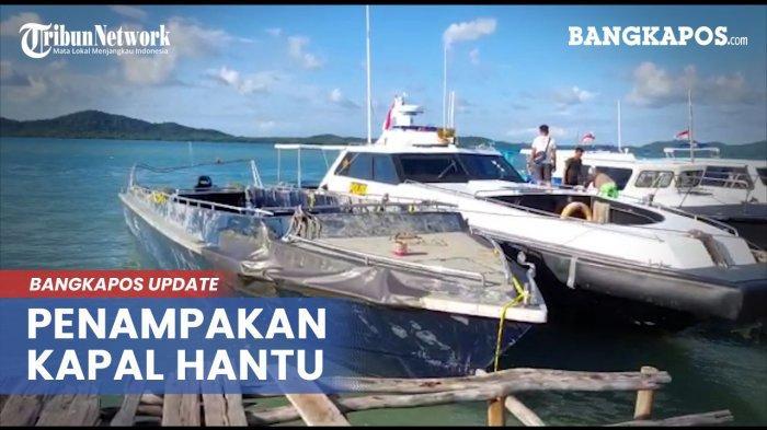 Ini Foto-foto Penampakan Kapal Hantu Bangka Belitung yang Viral Itu, Nakhoda dan ABK Masih Misterius