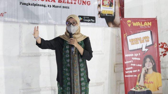 Melati Erzaldi Siapkan Dukungan untuk WALAN, Aplikasi Pesan Antar Lokal Babel
