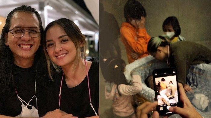 Jenazah Raditya Oloan Sudah Terbaring di Keranda, Joanna Alexandra Tatap Suami Ditemani Tiga Anaknya