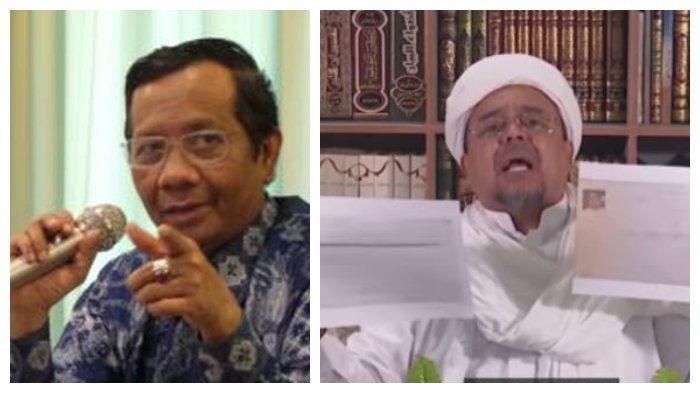 Mahfud MD Tanggapi Habib Rizieq, Lalu Sebut Pemerintah Indonesia Tidak Takut Kepada Rizieq Shihab