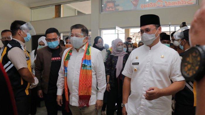 Gubernur Erzaldi Bersama Forkopimda Bangka Belitung Sambut Kedatangan Menteri PPN/Bappenas