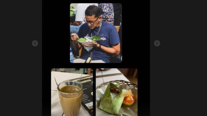 Menteri Sandi Sarapan Nasi Gemuk, Belitung Alamnya Indah, Covid-nya rendah, Tapi Jangan Lengah