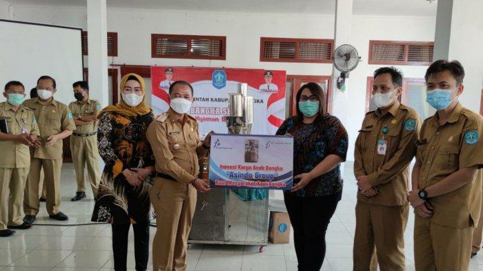 Angkat Potensi Kopi Bangka, PT BAA Serahkan Mesin Roasting Kopi Karya Putra Daerah ke Pemkab Bangka