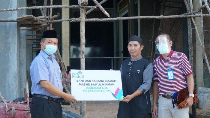 PLN Salurkan Bantuan Untuk Masjid Baitul Hikmah