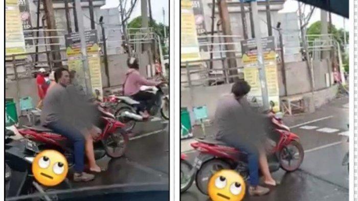 Pasangan yang Viral karena Berbuat Tak Senonoh di Atas Motor Saat Berhenti di Lampu Merah Minta Maaf