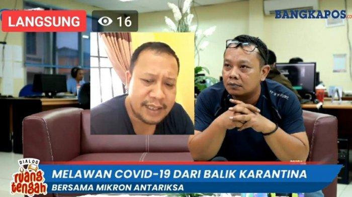 Mikron Antariksa dan Pimred Bangka Pos, Ibnu Taufik saat Live Streaming, Kamis (3/9/2020).