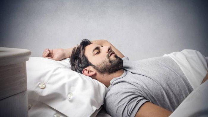 Ilustrasi pria tidur