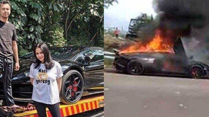 Penyebab dan Kronologi Mobil Lamborghini Milik Raffi Ahmad Seharga Rp 18,5 Miliar Tiba-tiba Terbakar